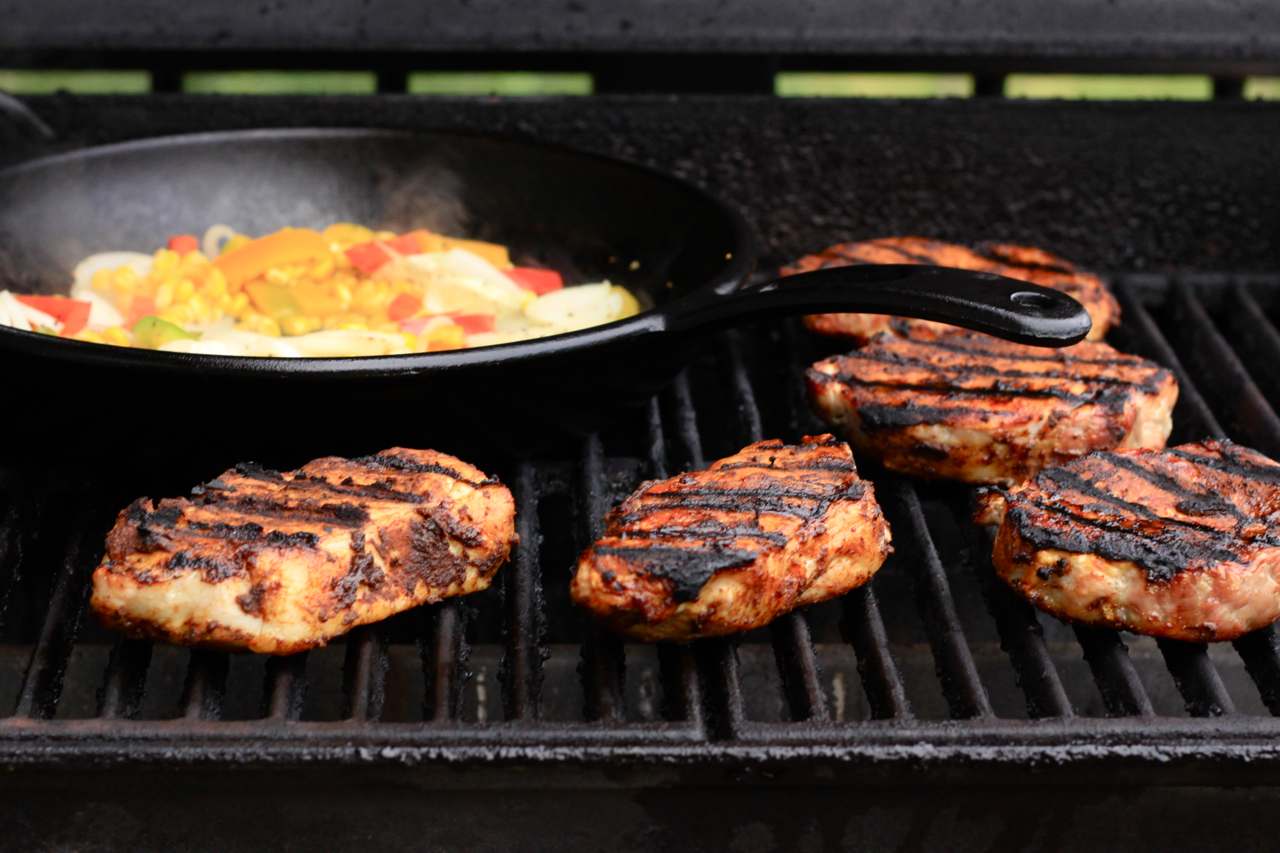 """Some recipes are just too good to be true. Chili-rubbed Pork Chops are crazy simple and crazy good. Just a simply seasoned """"rub"""" gives grilled pork a sweet and zippy […]"""