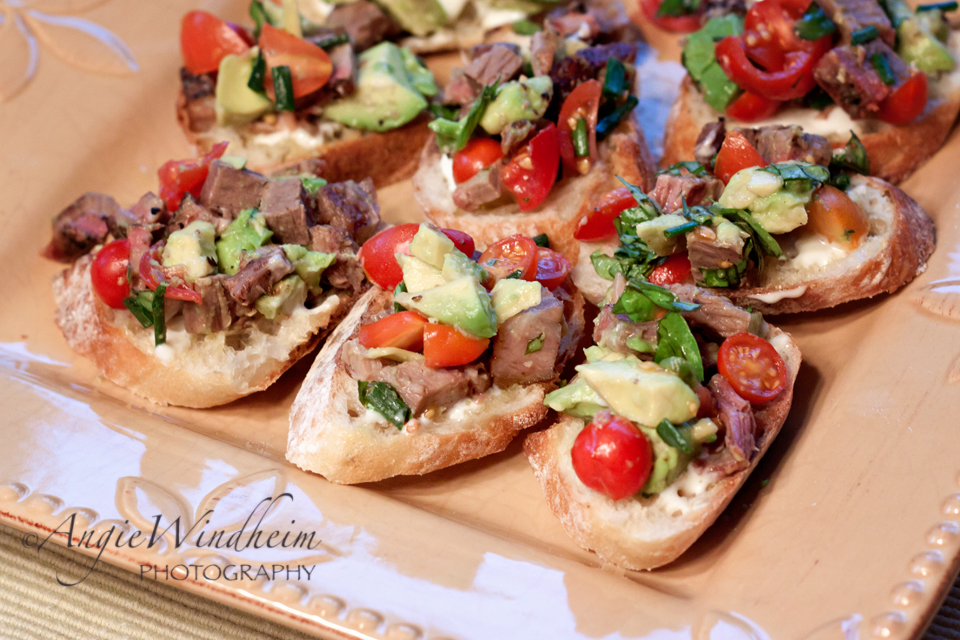 "GARLIC!!! The eye-popping ""wow factor"" of Garlicky Steak and Bleu Cheese Bruschetta is that each slice of baguette is rubbed with a raw garlic clove. Shout out to noblepig.com for […]"
