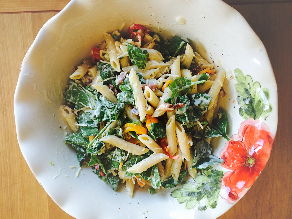 Baseball games, sunny days, picnics at the park, baby spinach growing in the garden… Tis the season for pasta salad! And, this recipe is the perfect kick off for summer. […]